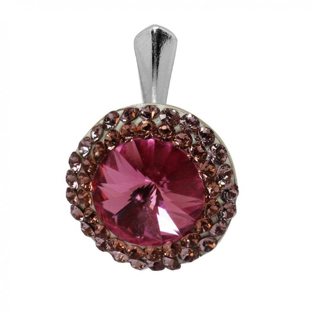 Aldora - Pandantiv Argint si Cristale Swarovski - Rose