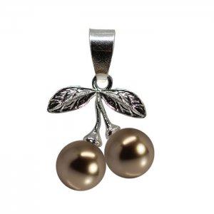 Arya - Pandantiv Argint si Perle Swarovski - Bronze