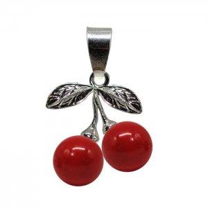 Arya - Pandantiv Argint si Perle Swarovski - Red Coral
