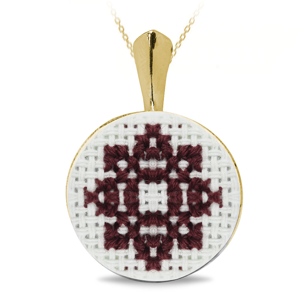 Camila - Pandantiv Argint Placat Handmade - Motive Traditionale
