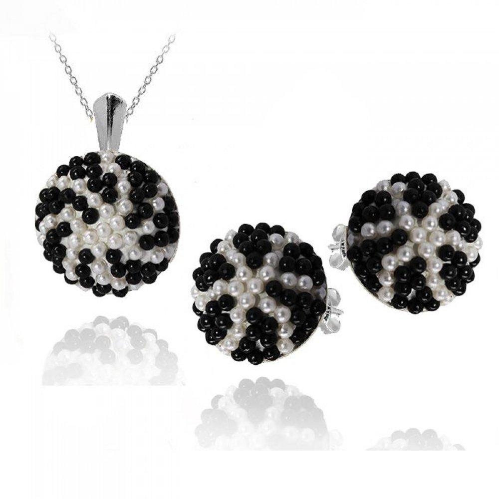 Set Bijuterii Argint si Perle Swarovski - Adinne