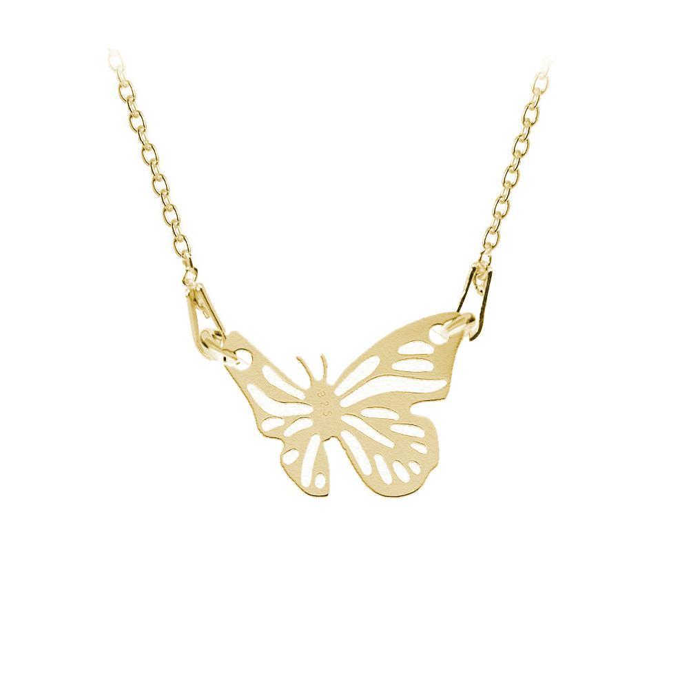 Butterfly - Colier Argint Placat cu Aur