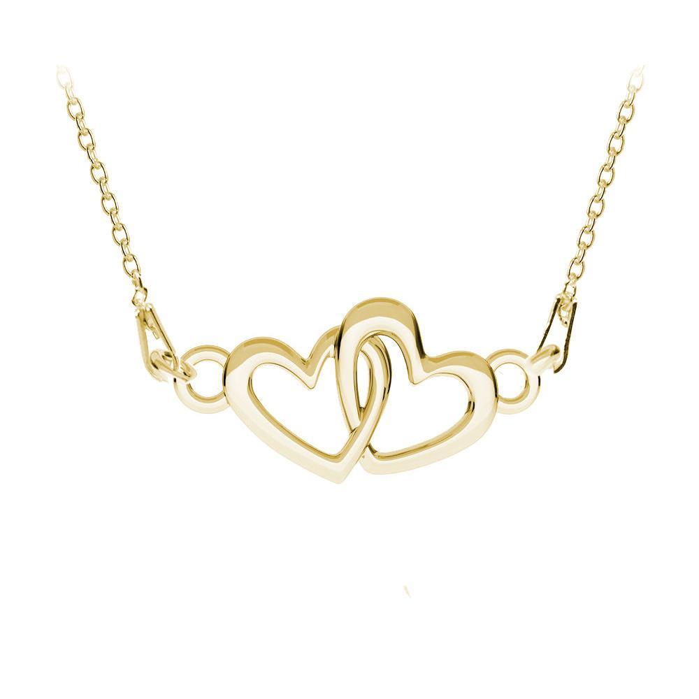 Heart - Colier Argint Placat cu Aur