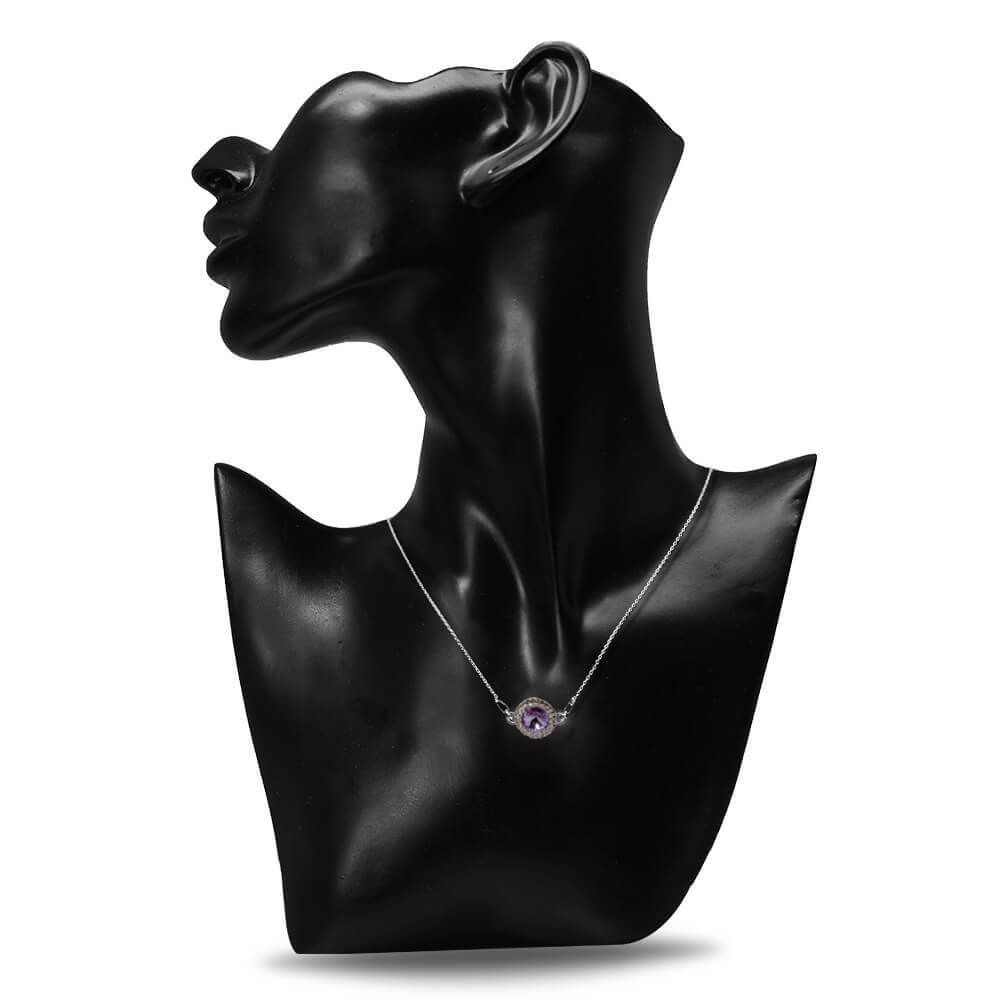 Aldora - Colier Argint si Cristale Swarovski - Violet