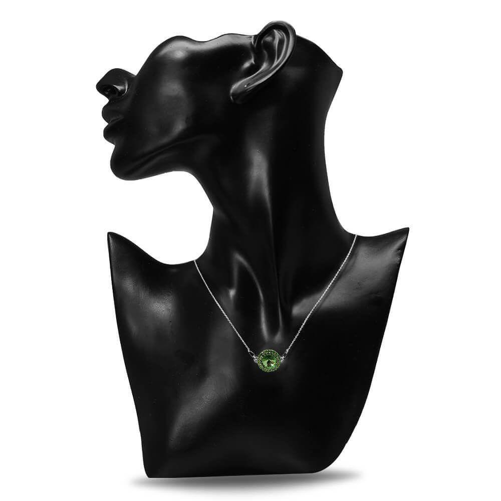 Aldora - Colier Argint si Cristale Swarovski - Peridot