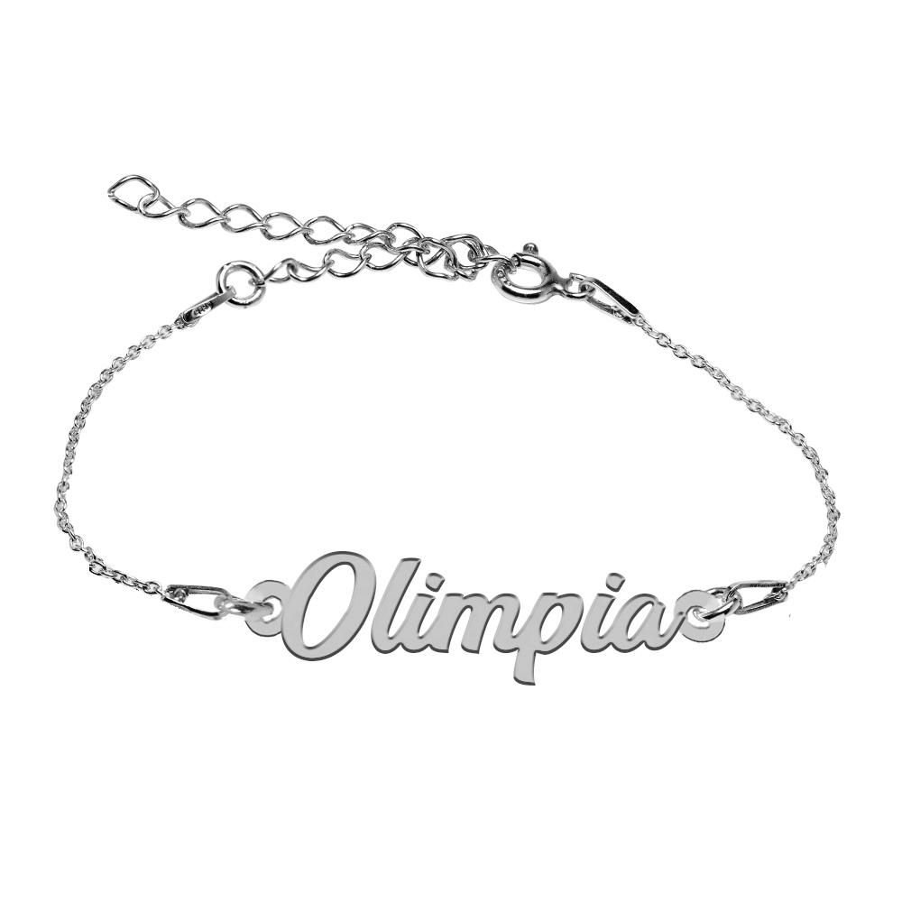 Bratara Argint 925, Nume Olimpia , BijuBOX, 15 + 4 cm