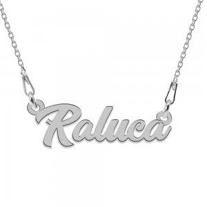 Colier Argint 925, Nume Raluca , 45 cm