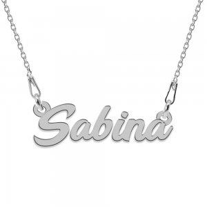 Colier Argint 925, Nume Sabina , 45 cm