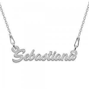 Colier Argint 925, Nume Sebastiana , 45 cm