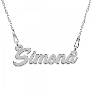 Colier Argint 925, Nume Simona , 45 cm
