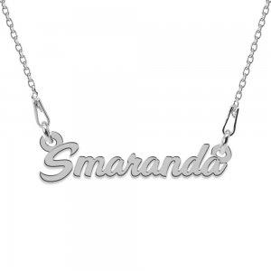 Colier Argint 925, Nume Smaranda , 45 cm