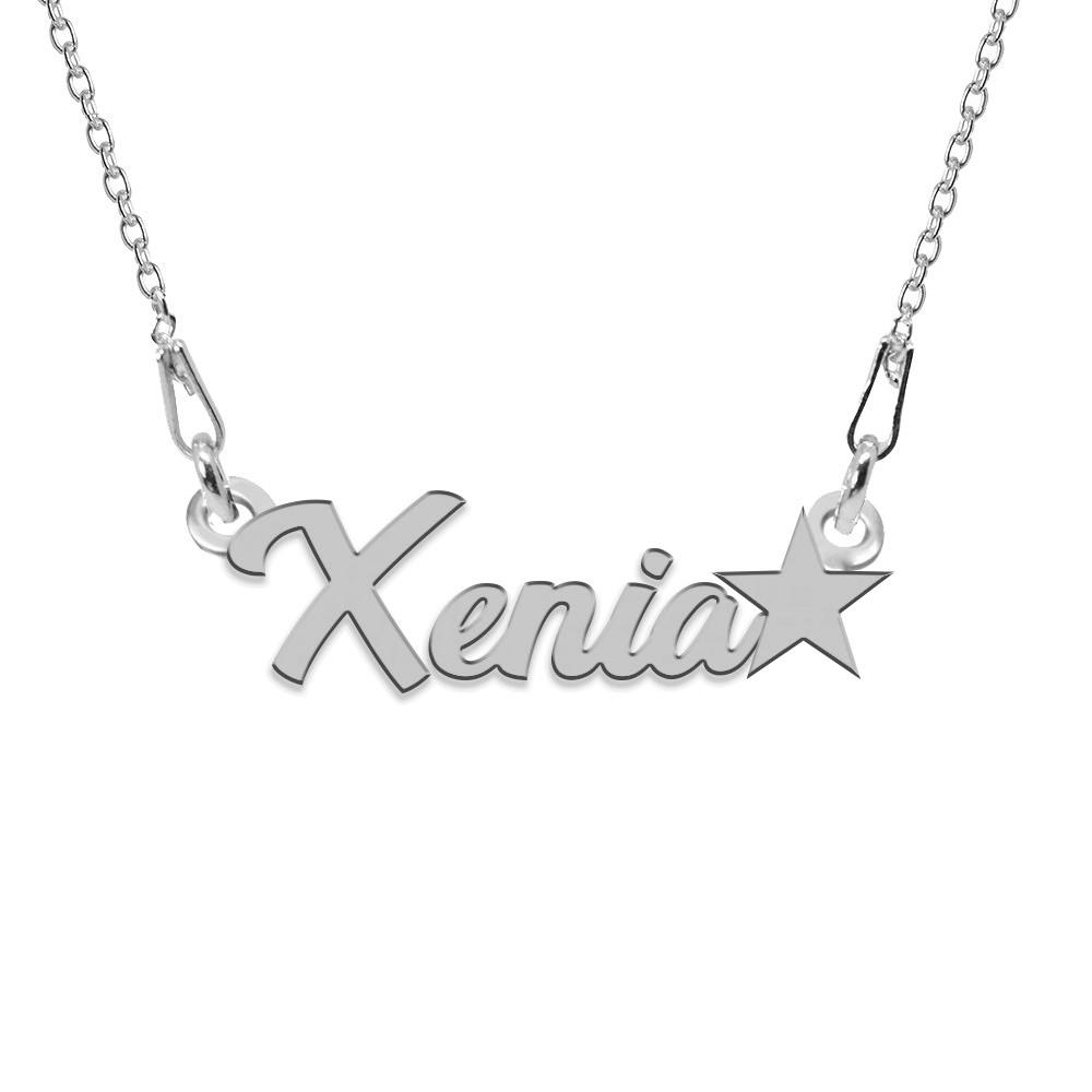 Colier Argint, Steluta, Nume Xenia , 45 cm