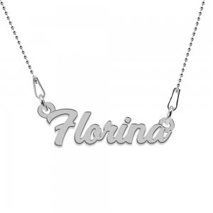 Nomine - Colier personalizat cu nume din argint 925 - Lant bile