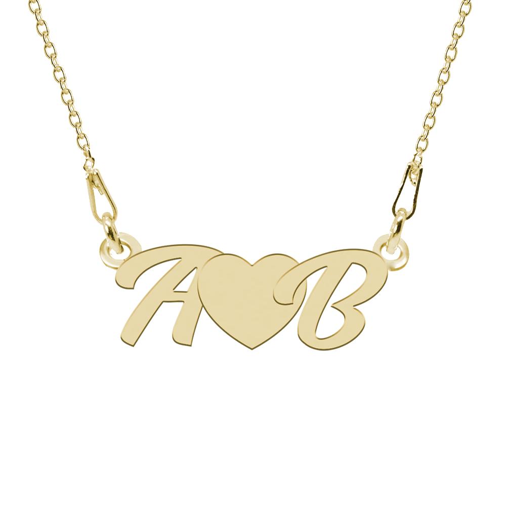 Love - Colier personalizat cu initiale din argint