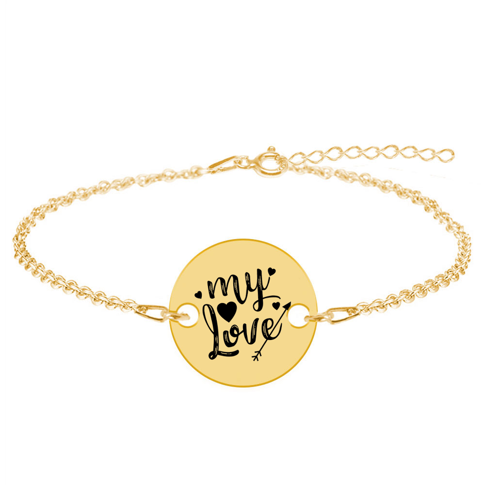 Lover - Bratara personalizata argint banut My Love poza 2021