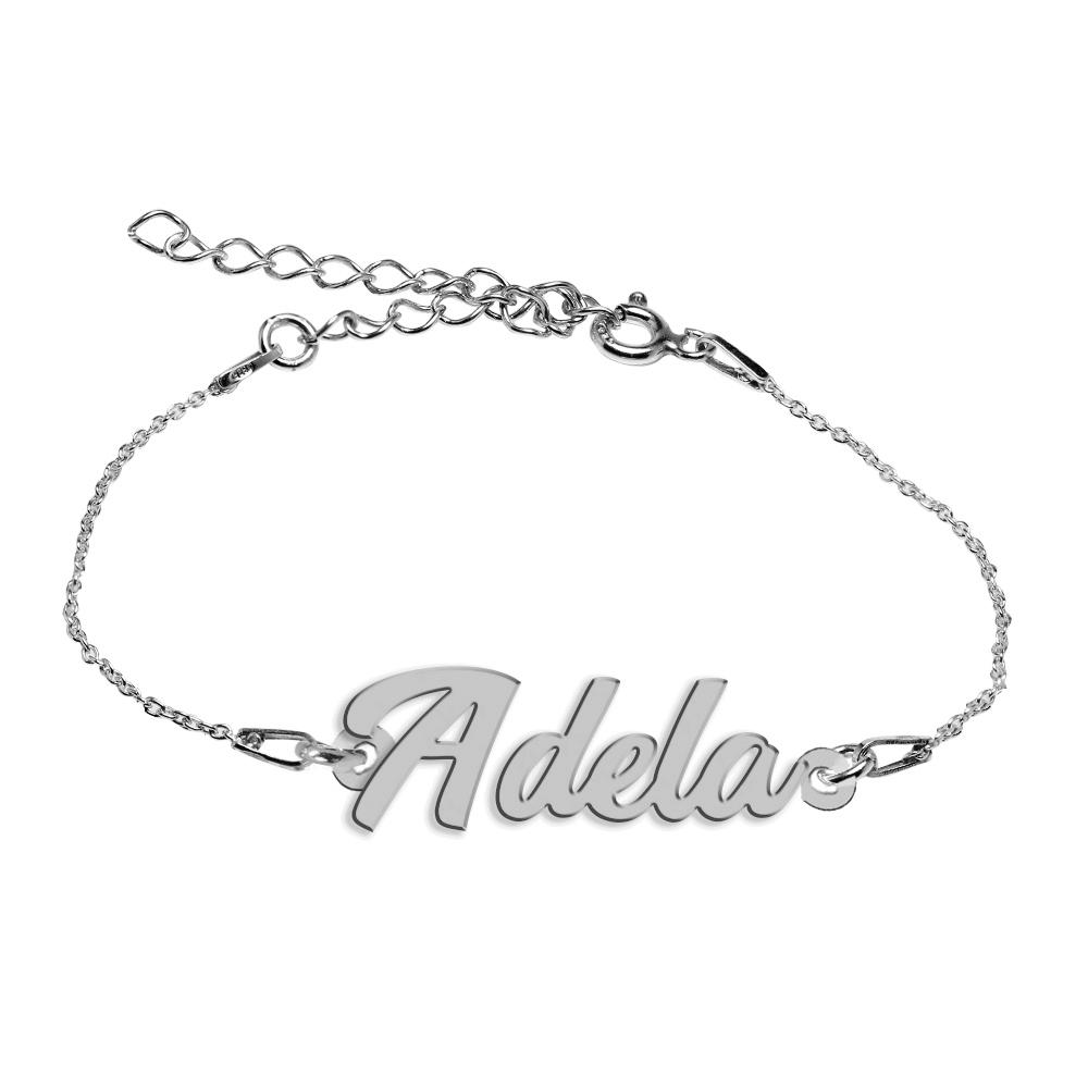 Bratara Argint 925, Nume Adela , BijuBOX, 15 + 4 cm