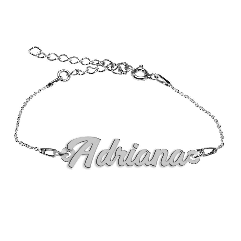 Bratara Argint 925, Nume Adriana , BijuBOX, 15 + 4 cm