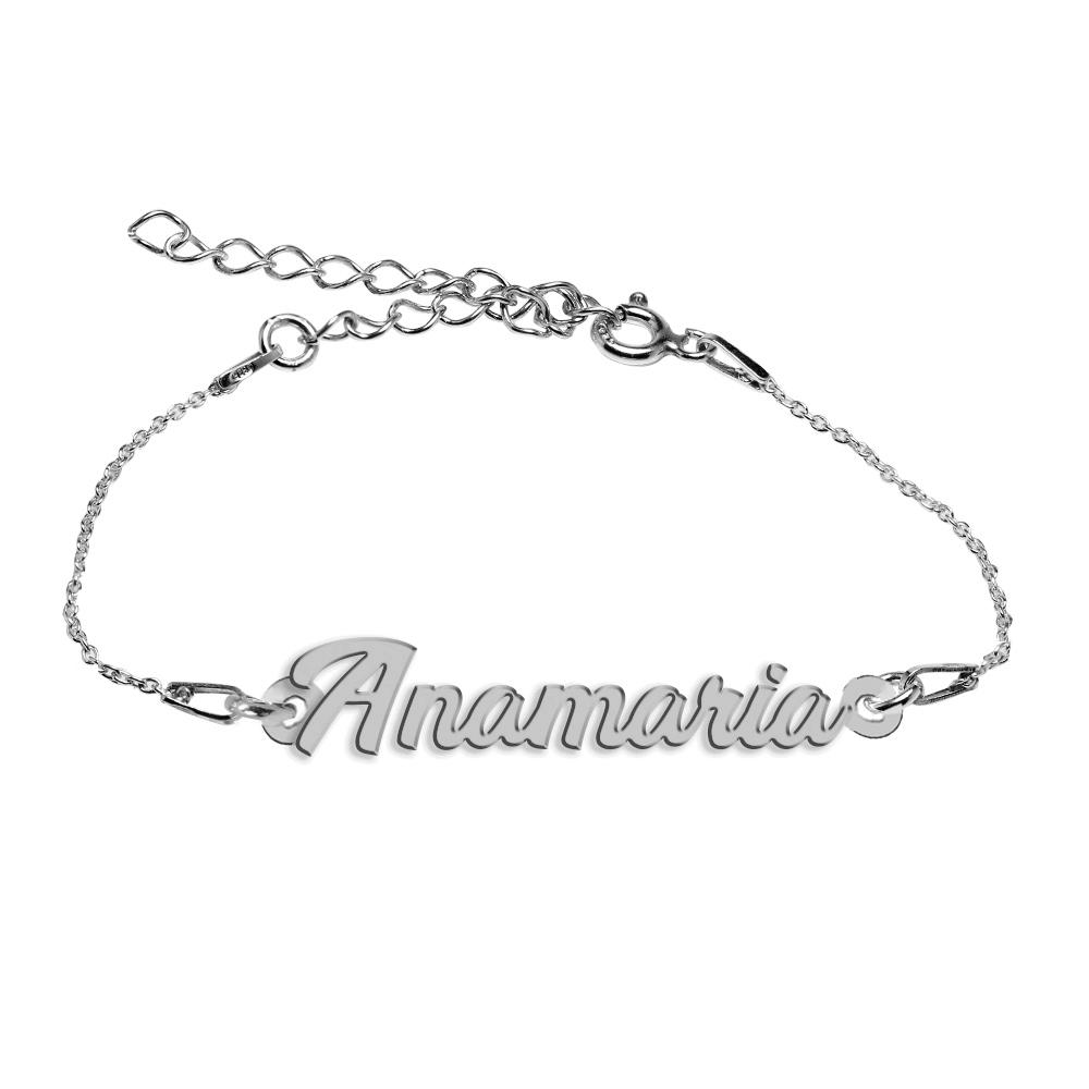 Bratara Argint 925, Nume Anamaria , BijuBOX, 15 + 4 cm