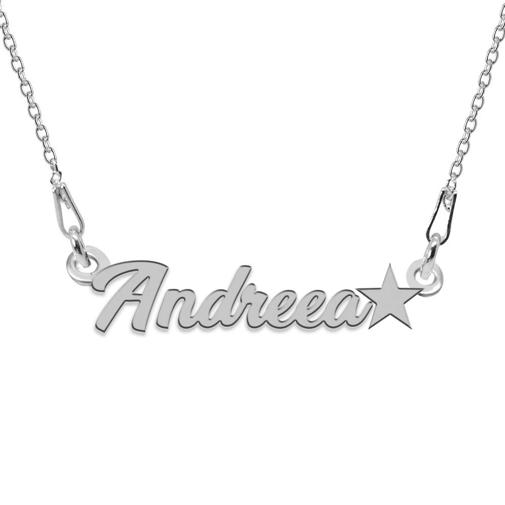Colier Argint 925, Steluta, Nume Andreea, 45 cm