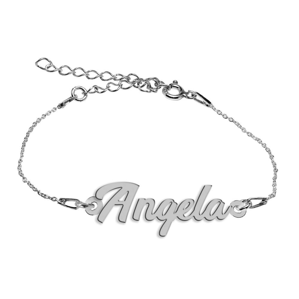 Bratara Argint 925, Nume Angela , BijuBOX, 15 + 4 cm