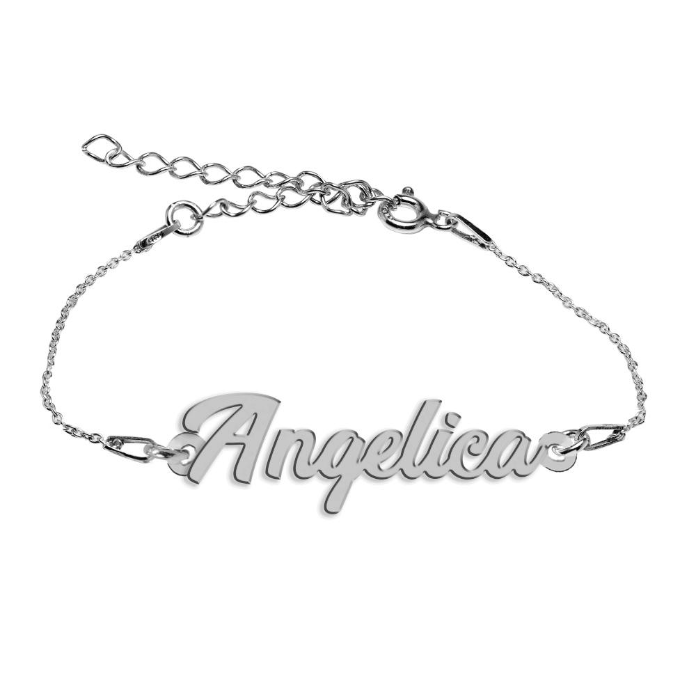 Bratara Argint 925, Nume Angelica , BijuBOX, 15 + 4 cm
