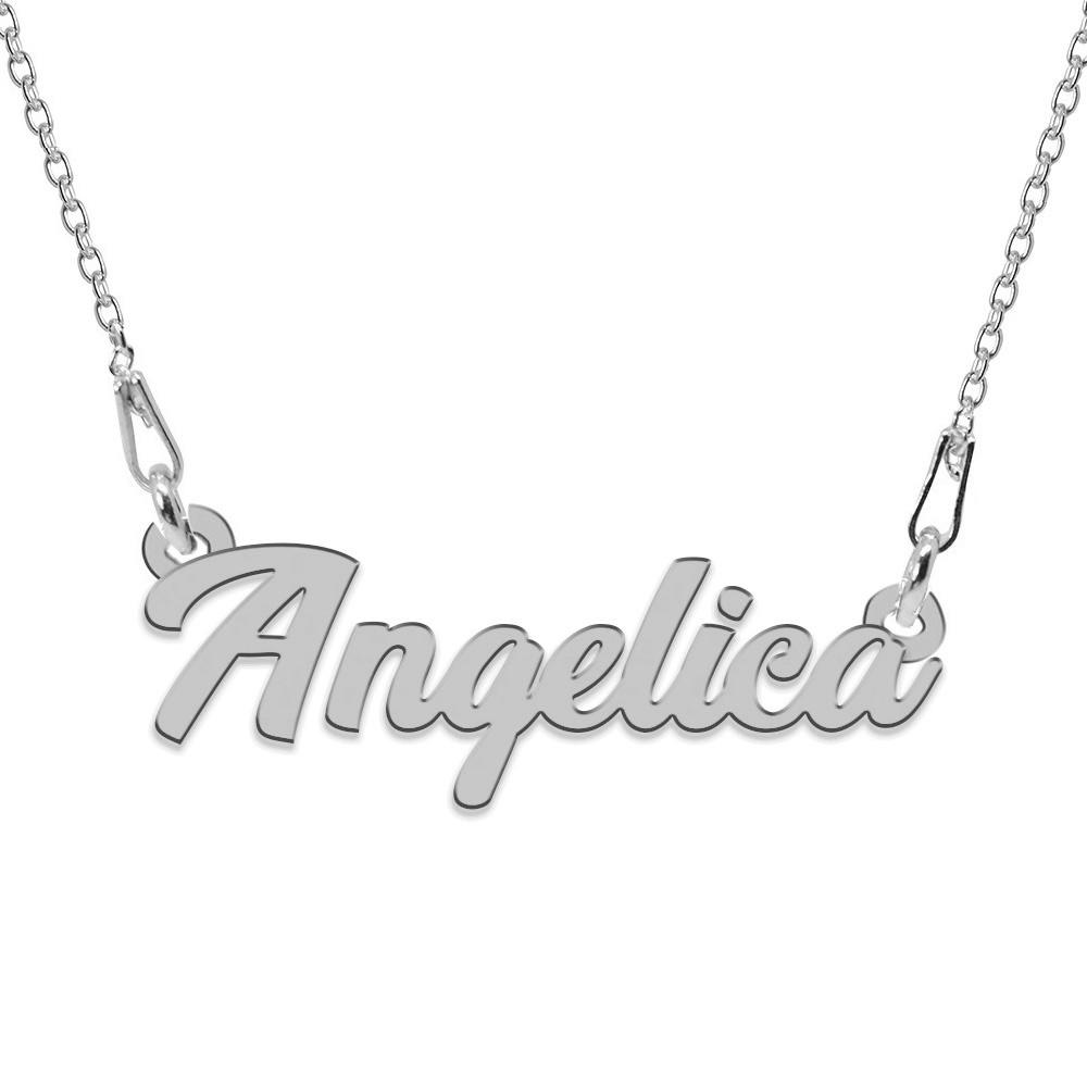 Colier Argint, Nume Angelica, 45 cm poza 2021