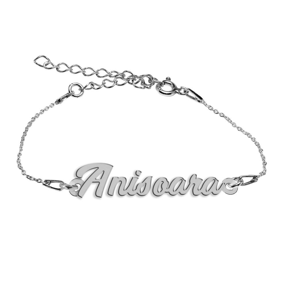 Bratara Argint 925, Nume Anisoara , BijuBOX, 15 + 4 cm