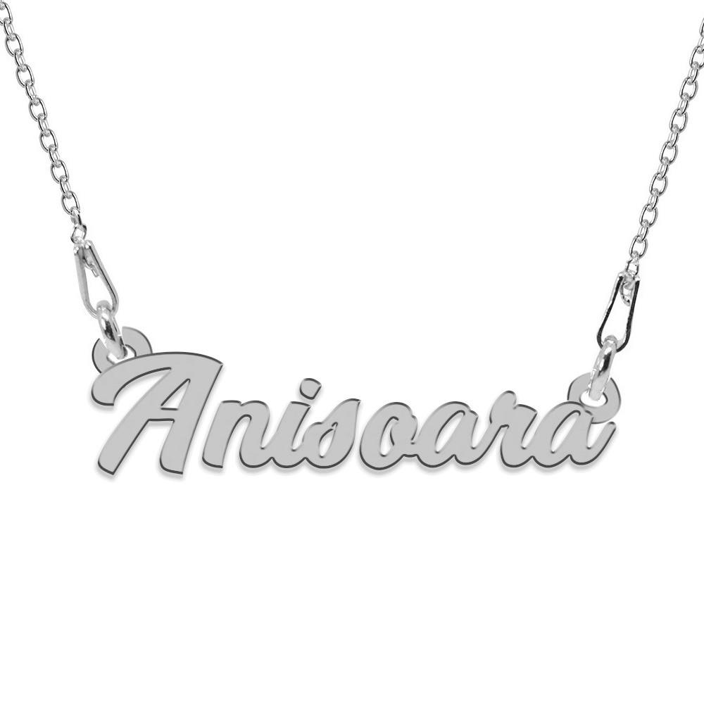 Colier Argint, Nume Anisoara, 45 cm