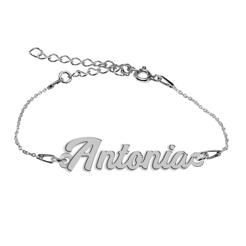 Bratara Argint 925, Nume Antonia , BijuBOX, 15 + 4 cm