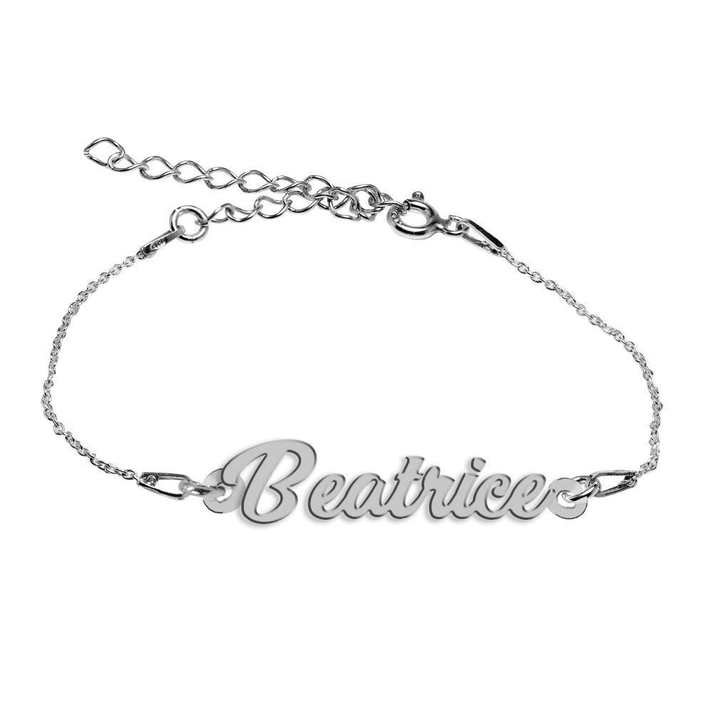 Bratara Argint 925, Nume Beatrice , BijuBOX, 15 + 4 cm
