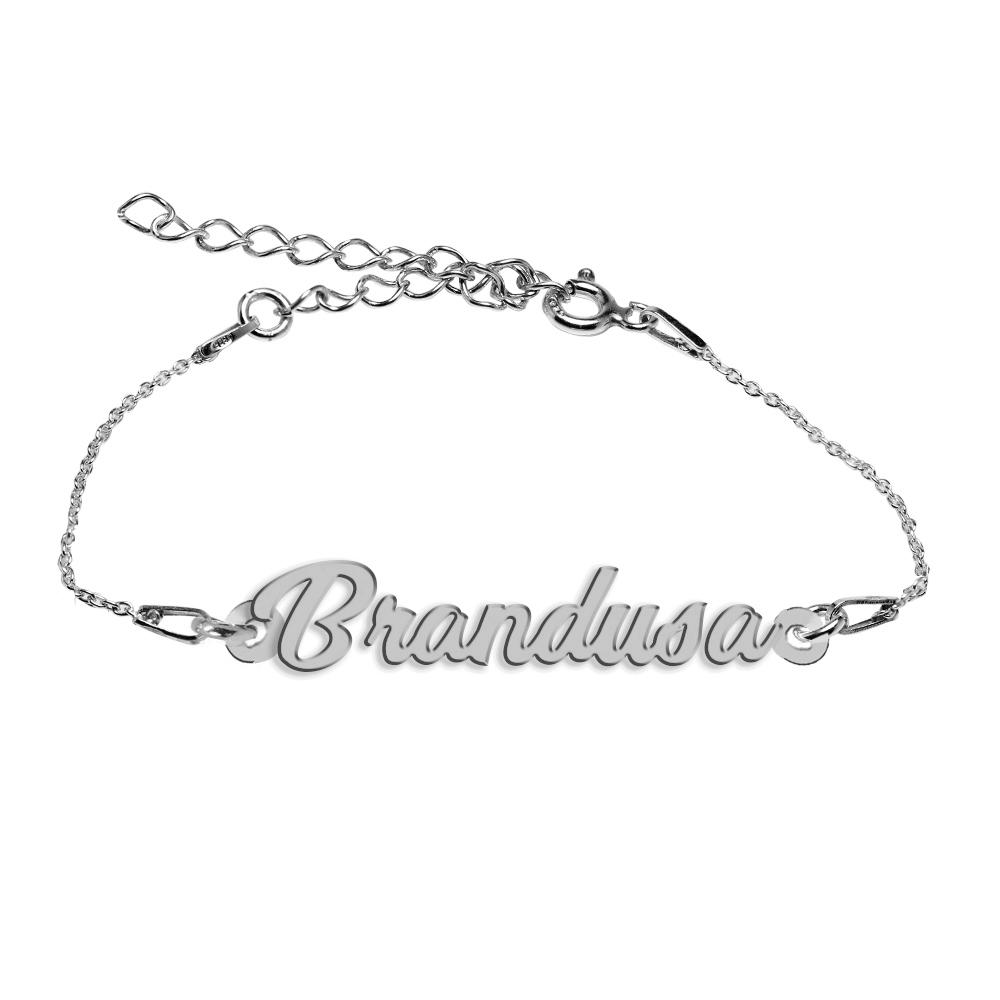 Bratara Argint 925, Nume Brandusa , BijuBOX, 15 + 4 cm poza 2021