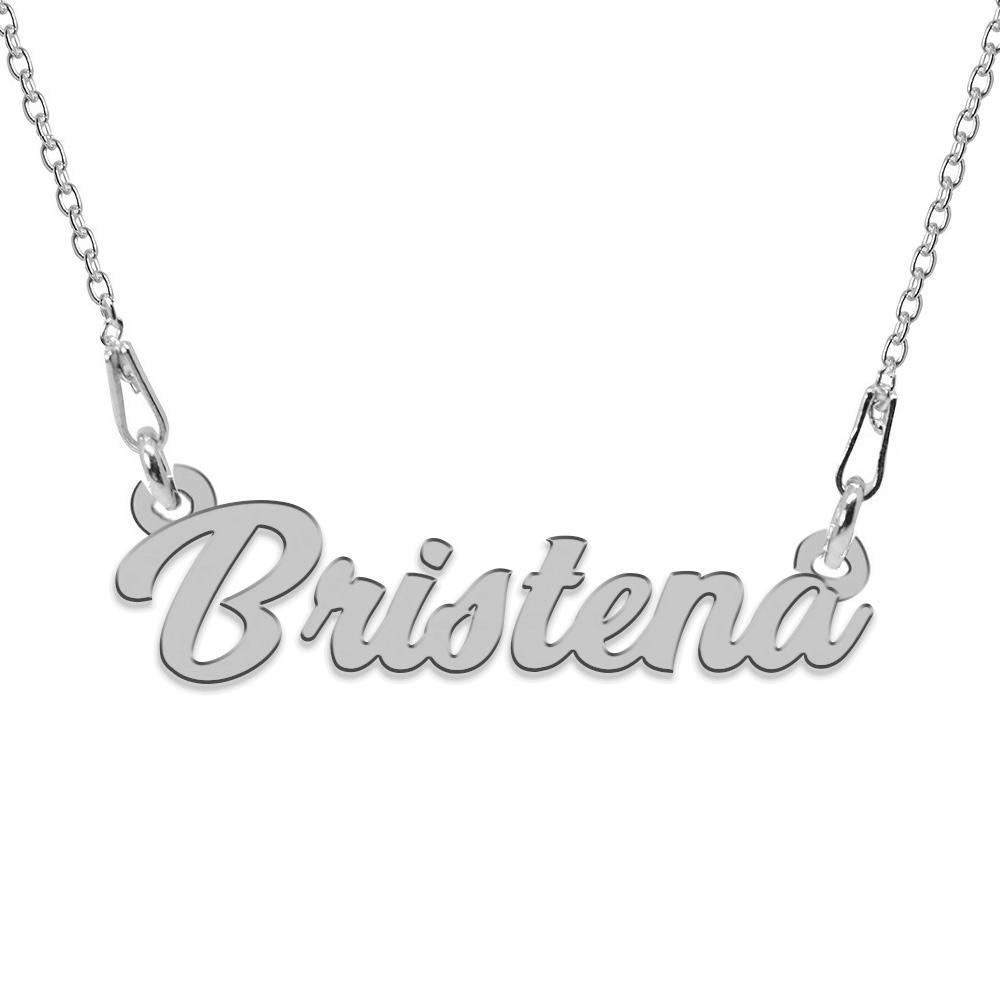 Colier Argint, Nume Bristena, 45 cm