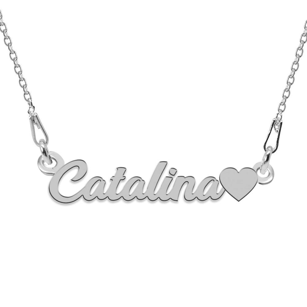 Colier Argint 925, Inimioara, Nume Catalina, 45 cm poza 2021