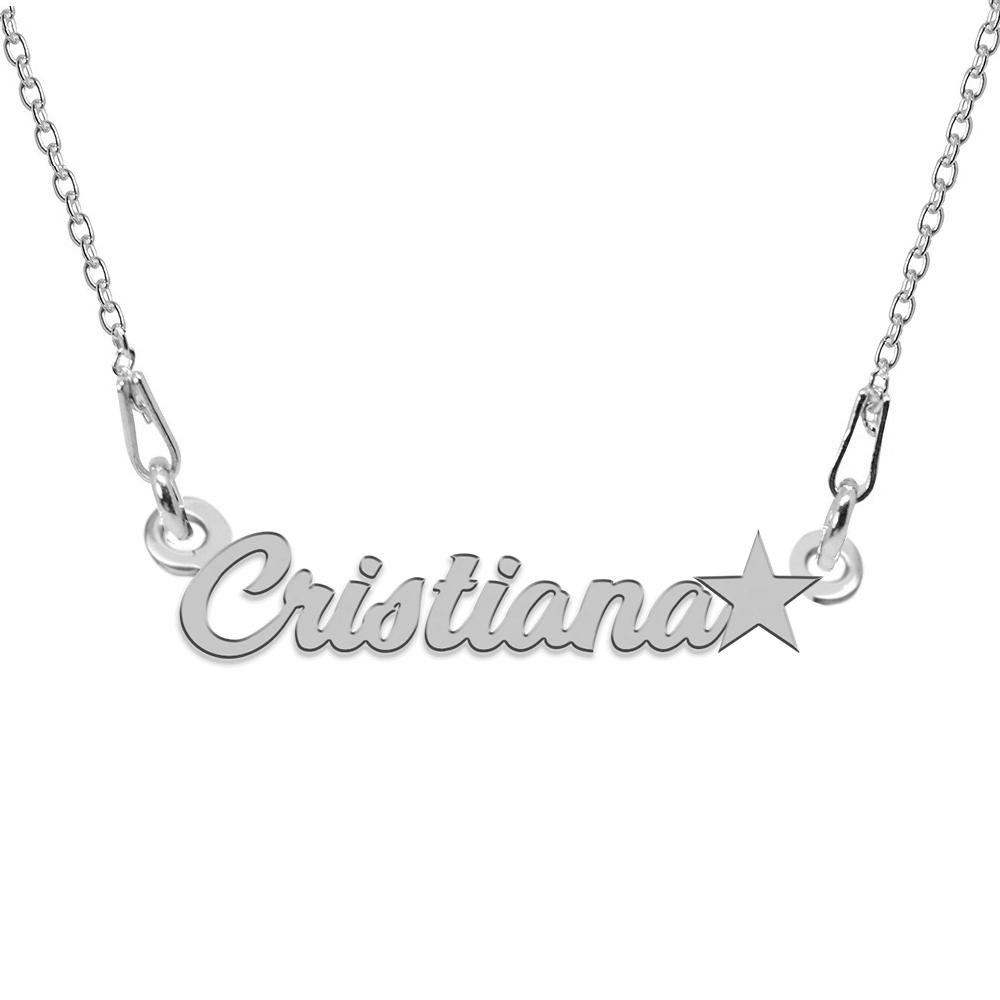 Colier Argint 925, Steluta, Nume Cristiana, 45 cm