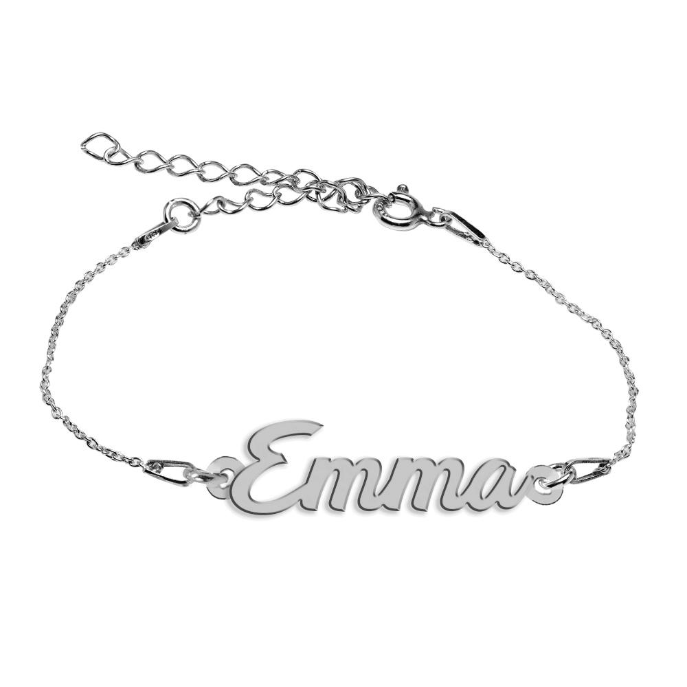 Bratara Argint 925, Nume Emma , BijuBOX, 15 + 4 cm poza 2021