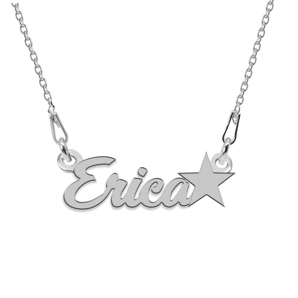 Colier Argint, Steluta, Nume Erica , 45 cm poza 2021