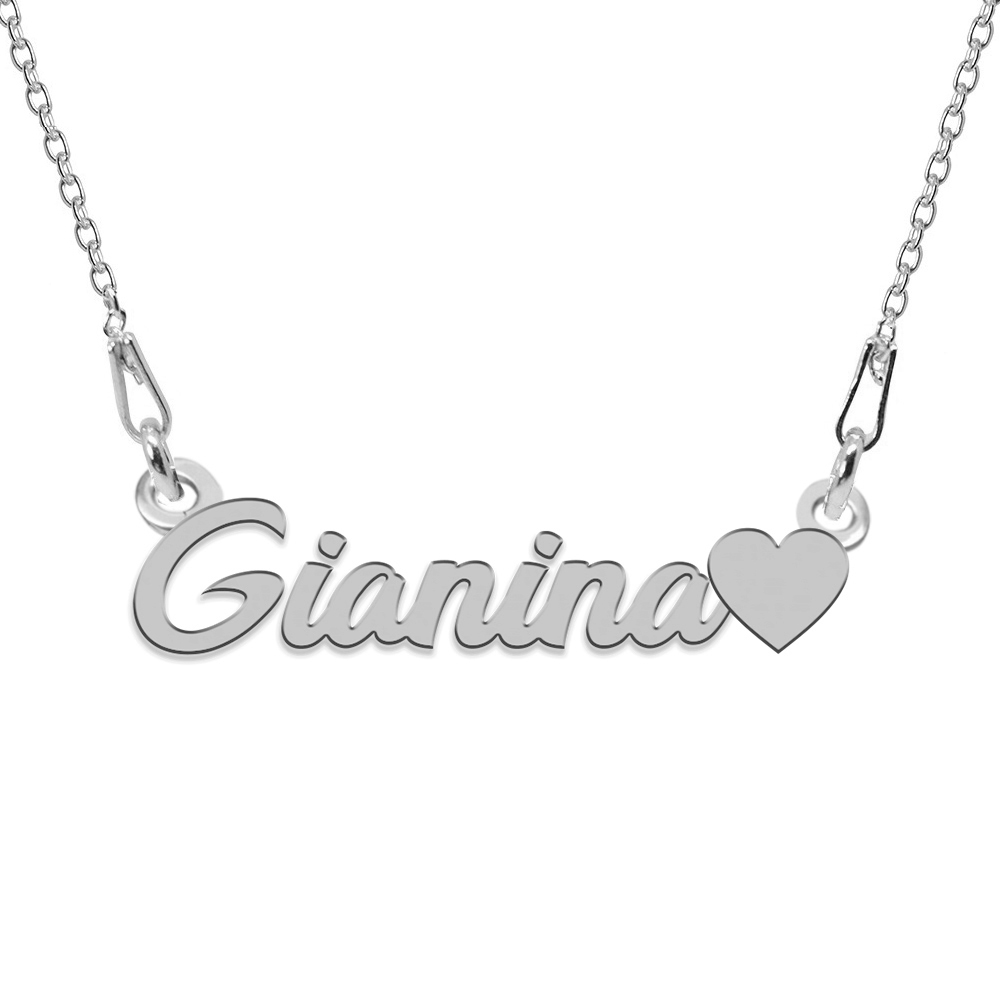 Colier Argint, Inimioara, Nume Gianina , 45 cm poza 2021