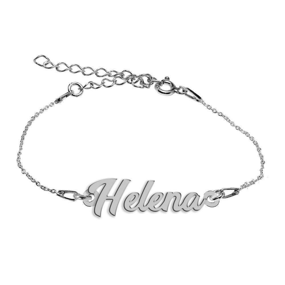 Bratara Argint 925, Nume Helena , BijuBOX, 15 + 4 cm