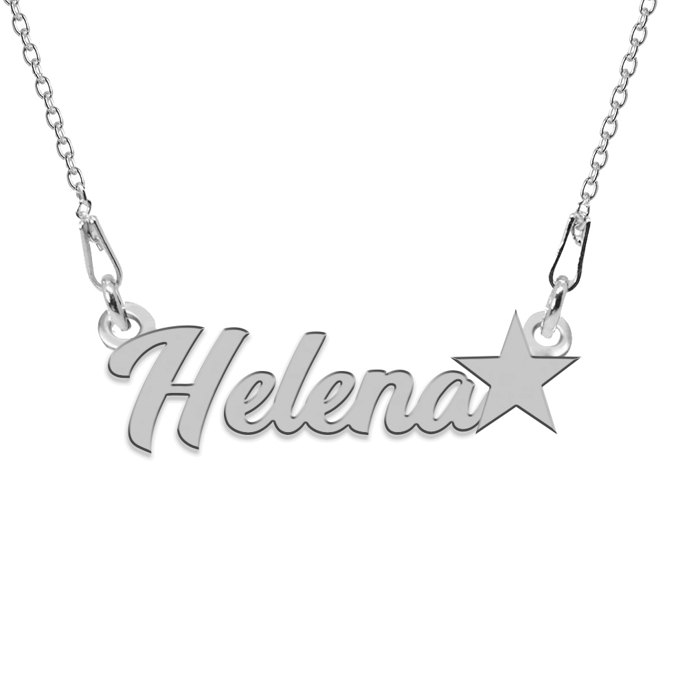 Colier Argint, Steluta, Nume Helena , 45 cm poza 2021