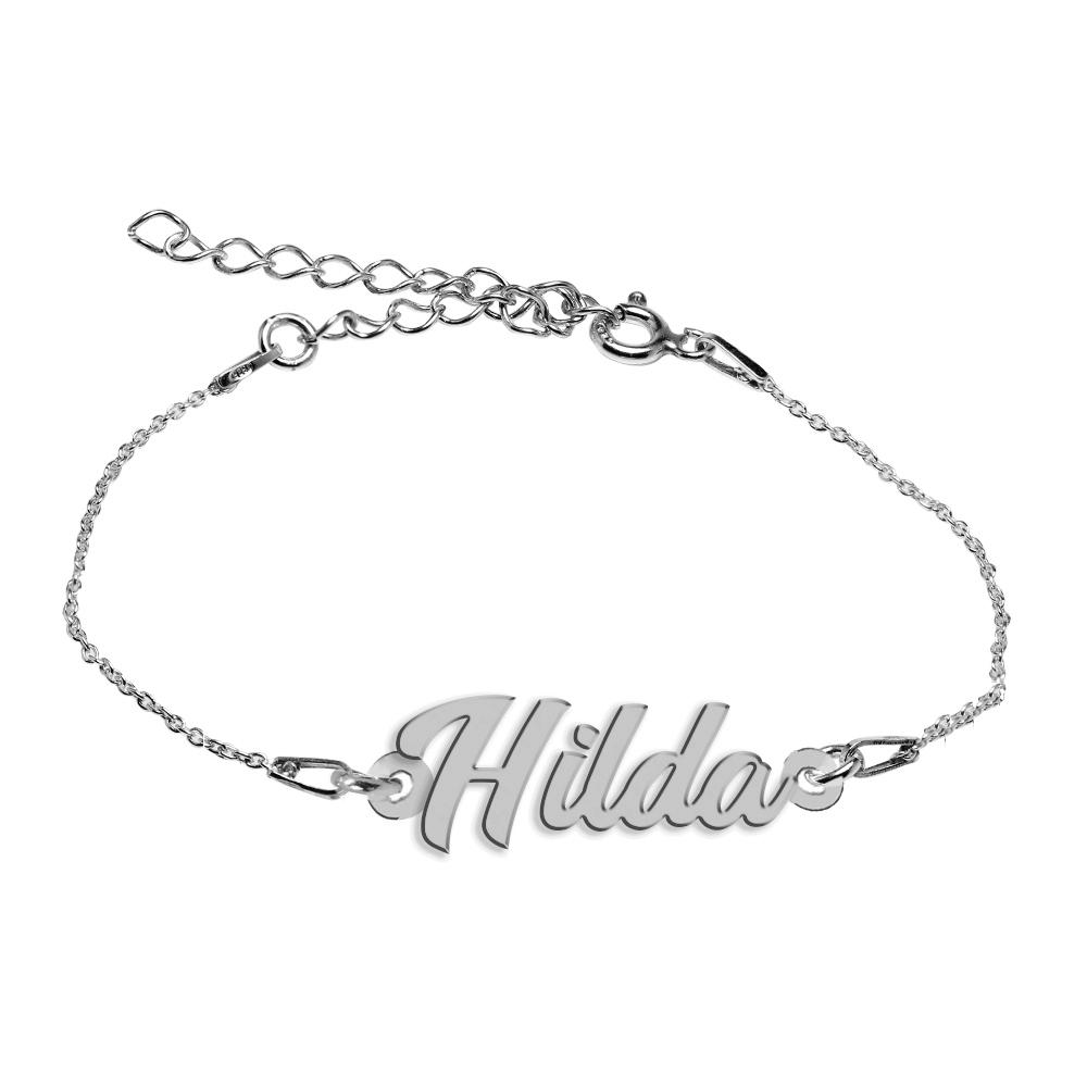 Bratara Argint 925, Nume Hilda , BijuBOX, 15 + 4 cm poza 2021