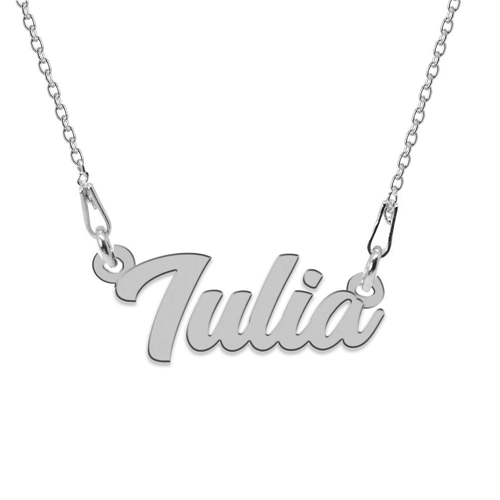 Colier Argint 925, Nume Iulia , 45 cm