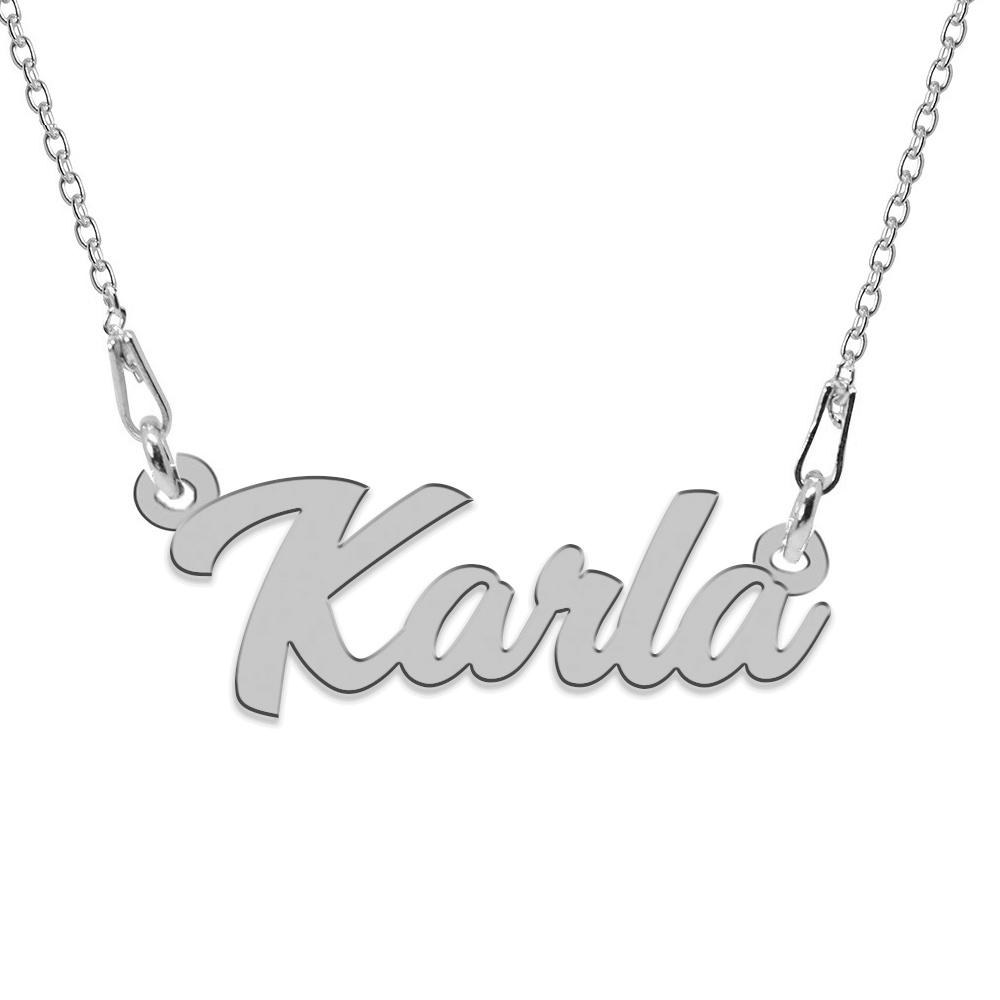 Colier Argint 925, Nume Karla , 45 cm