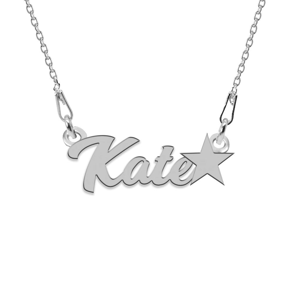 Colier Argint, Steluta, Nume Kate , 45 cm