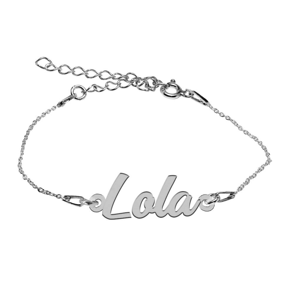 Bratara Argint 925, Nume Lola , BijuBOX, 15 + 4 cm