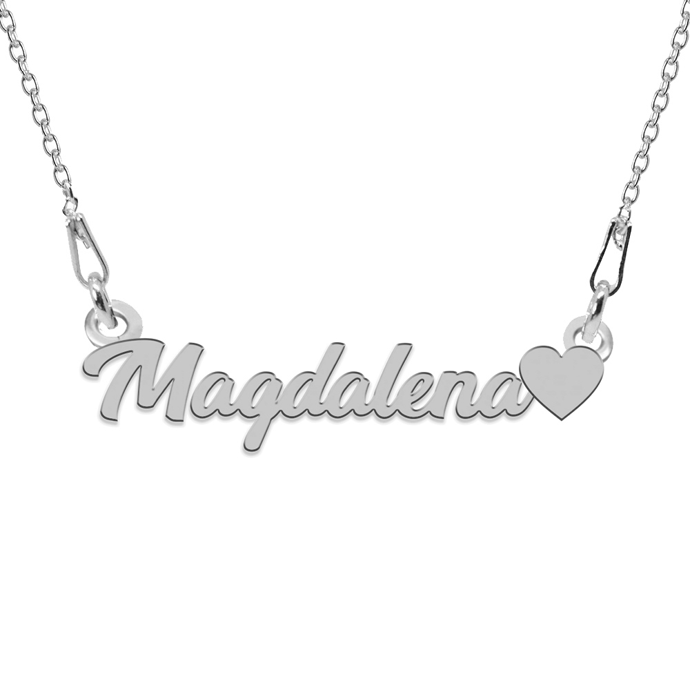 Colier Argint, Inimioara, Nume Magdalena , 45 cm