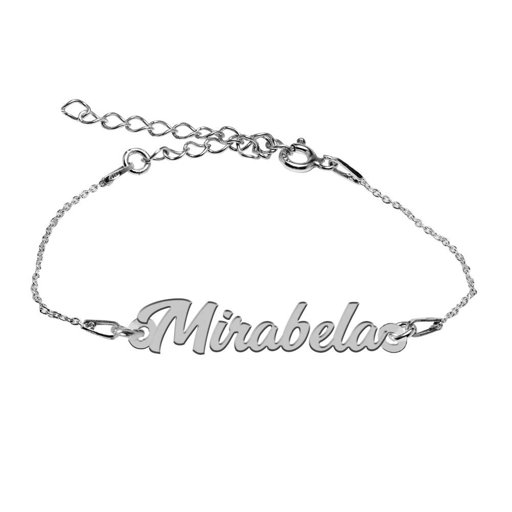 Bratara Argint 925, Nume Mirabela , BijuBOX, 15 + 4 cm poza 2021