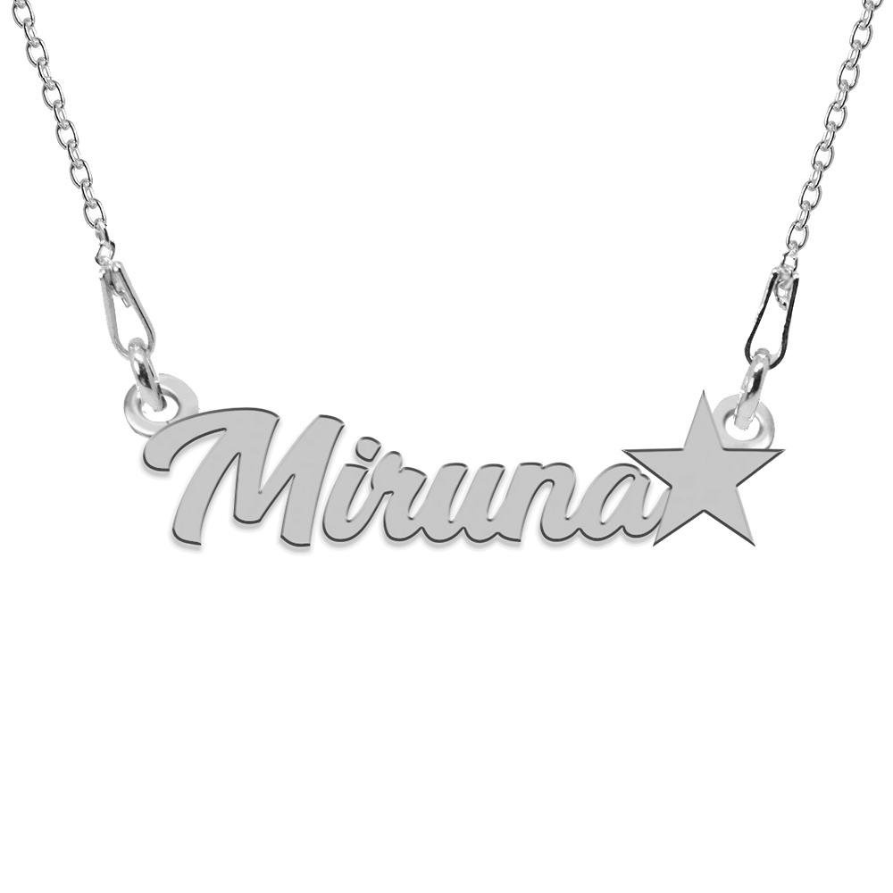 Colier Argint, Steluta, Nume Miruna , 45 cm poza 2021