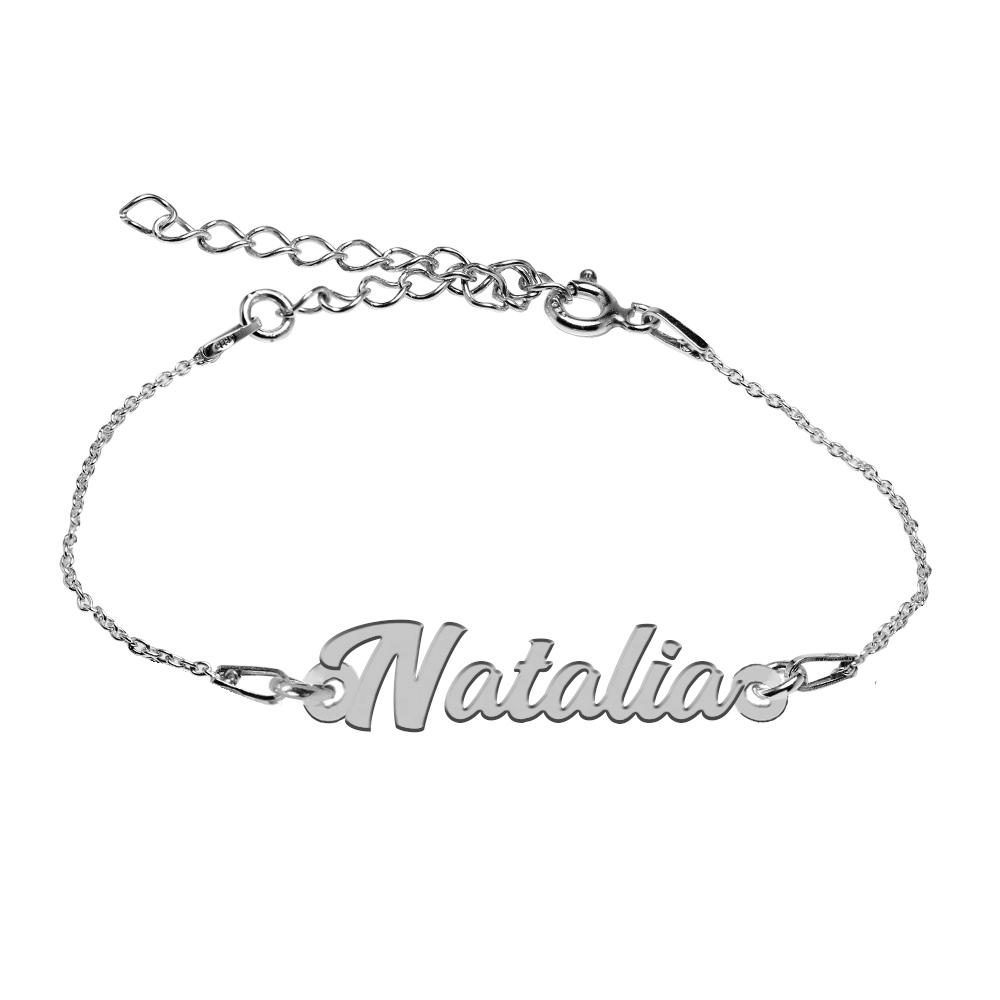 Bratara Argint 925, Nume Natalia , BijuBOX, 15 + 4 cm