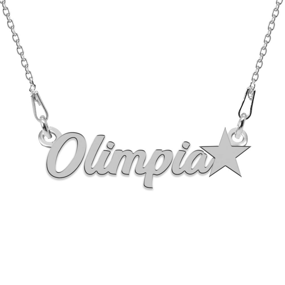 Colier Argint, Steluta, Nume Olimpia , 45 cm