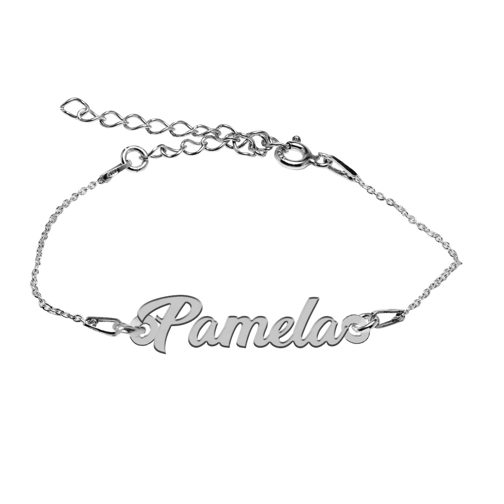 Bratara Argint 925, Nume Pamela , BijuBOX, 15 + 4 cm poza 2021